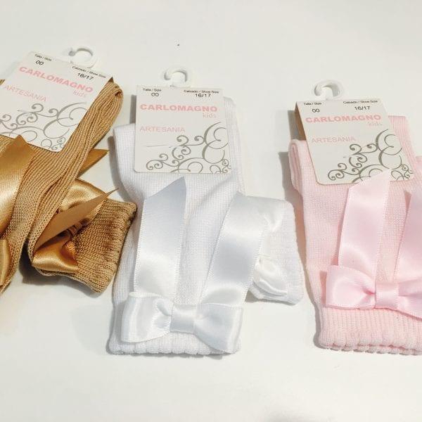 Calcetines de Lazo Fino Calados marca CarloMagno en 3 colores
