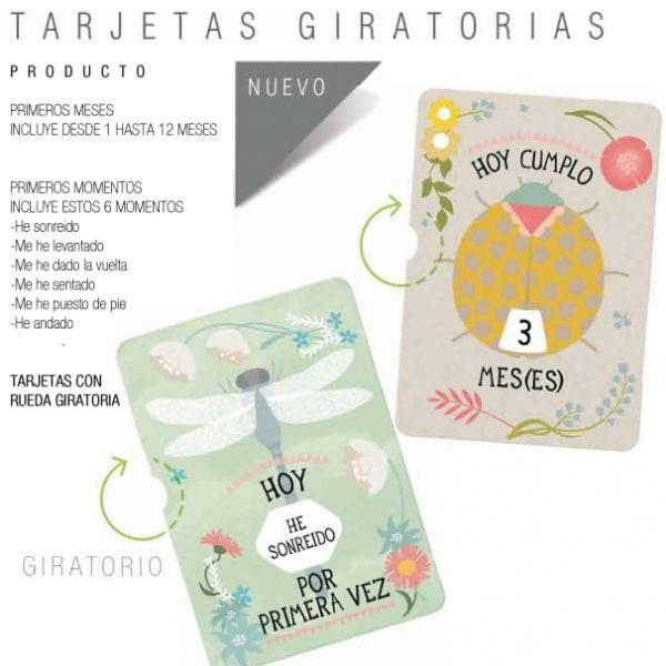 Tarjetas Milestone Tarjeta Giratoria Cumpleaños 1-12 meses