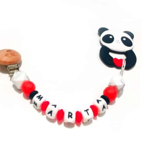 Personaliza Chupetero Mordedor Panda Totalmente a tu gusto