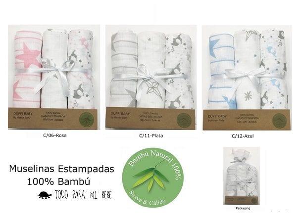 Pack de 3 gasas Bambú super suave