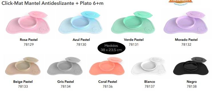 Twistshake 78132 color pastel morado Juego de vajilla