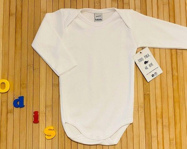 body básico manga larga Blanco sin cruzar americano