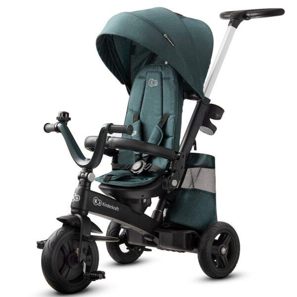 Triciclo Reclinable Verde Oscuro Evolutivo EasyTwist de Kinderkraft